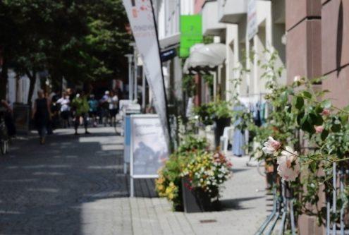 Blick in die Fußgängerzone in der Vegesacker Altstadt