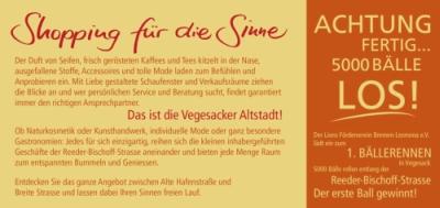 Flyertexte und Slogan für den Händlerverband Vegesacker Altstadt e.V.