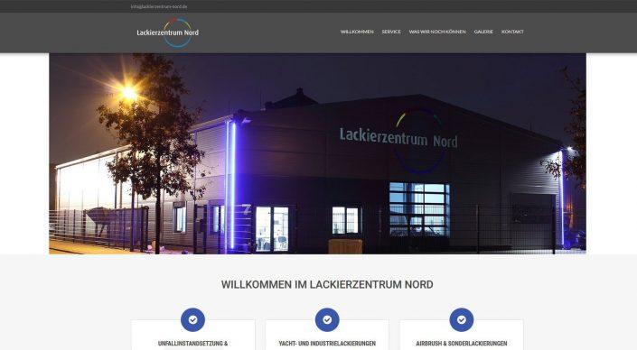 Webseitentexte für die Lackiererei Lackierzentrum Nord