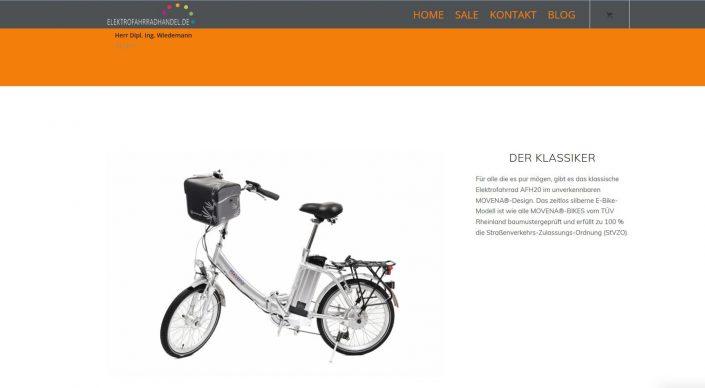 Webseitentexte für elektrofahrradhandel.de