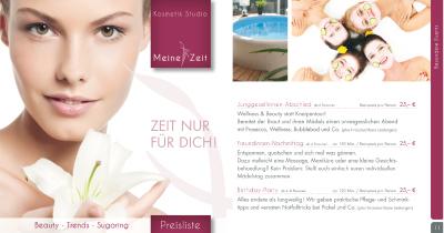 Inhalte Katalog Kosmetikstudio MEINE ZEIT