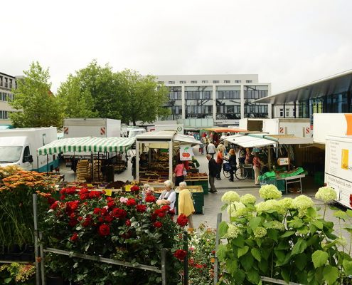 Der Wochenmarkt Vegesack zählt zu den ältesten Wochenmärkten Bremens