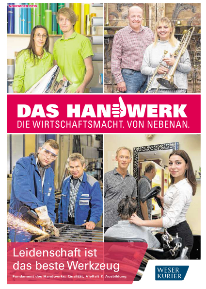 Titelseite des Magazins DAS HANDWERK