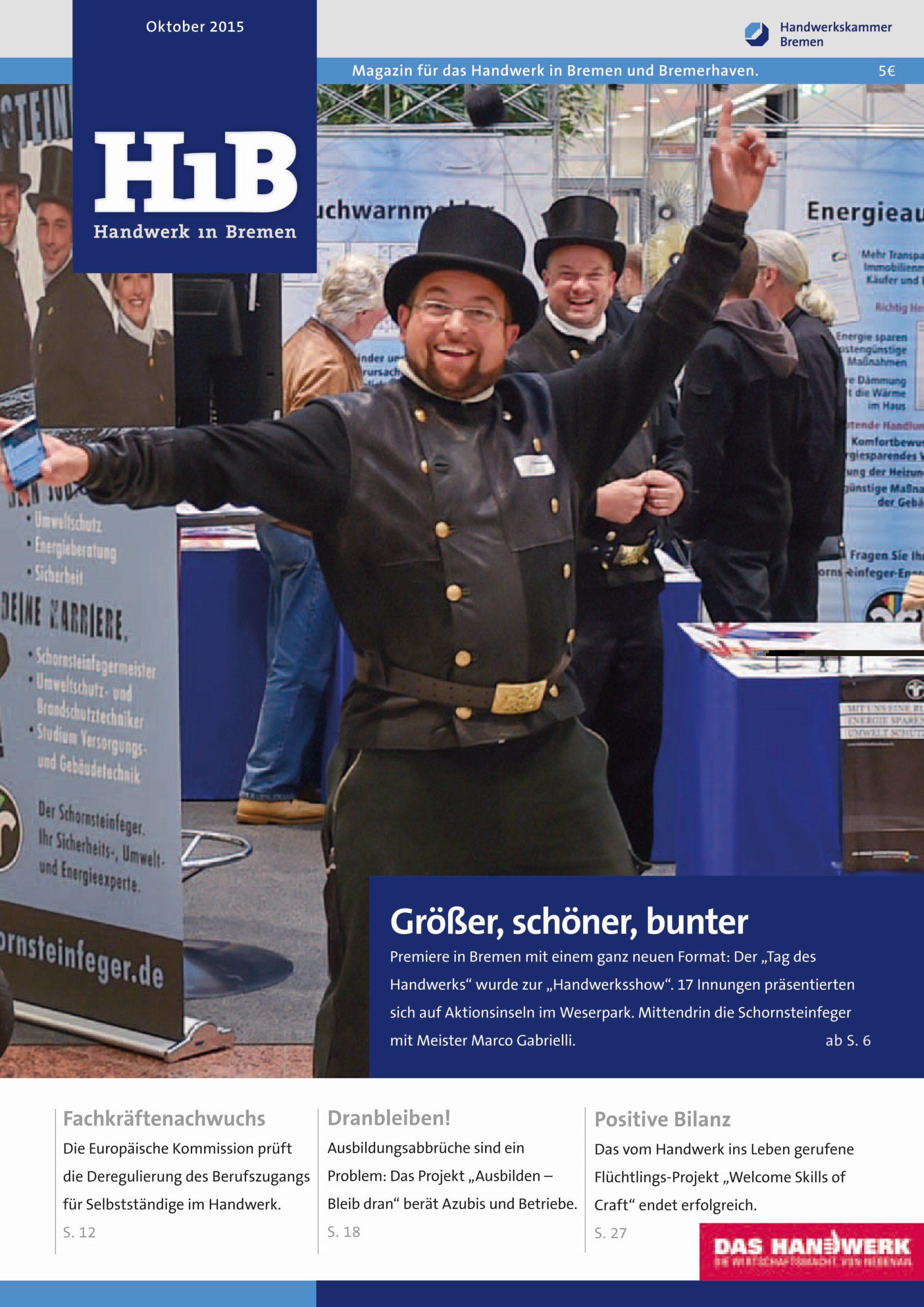 Titelbild des Magazins Handwerk in Bremen HiB
