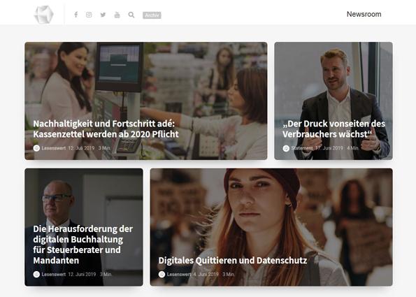 Die Startseite des Informationsportals der Zettelkassen-App admin ist ein Beispiel fürs Bloggen