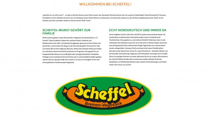 Webseitentext Imbiss Wurstbude Scheffel