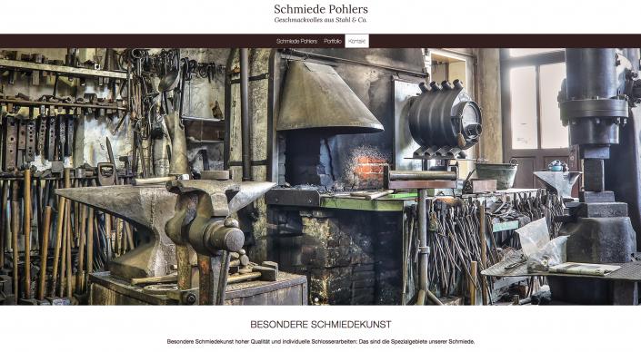 Webseitentext Schmiede Pohlers