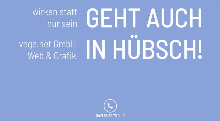 Webseitentext Webhosting und Werbeagentur Vege.net