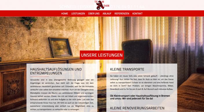 Webseitentext Entrümpelungen Haushaltsauflösungen Team Adam