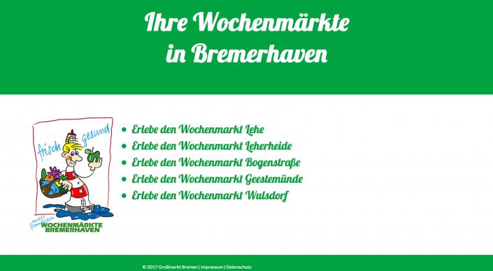 Webseitentext Wochenmärkte Bremerhaven
